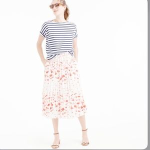 J. Crew Pleated Flamingo skirt.